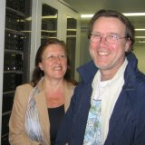 Ab Stammeshaus met vrouw Jeanne in de server-ruimte van Qweb Internet services in Rotterdam - Klik voor vergroting