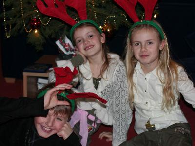 Kerst 2006 Jim, Tessa en Denise