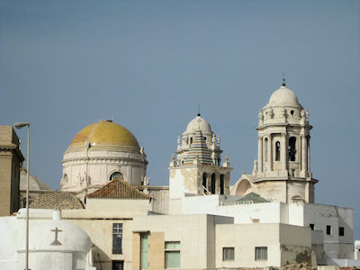 Koepels in Cadiz