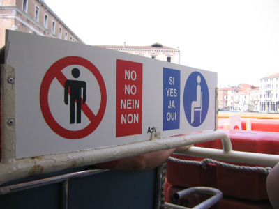 No standing places